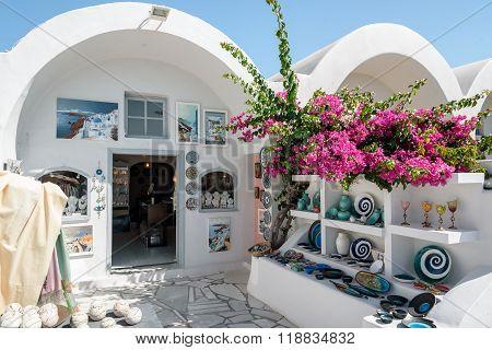 Traditional Greek ceramic souvenir shop