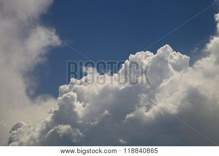 Clouds On The Blue Sky In The Summer Sun