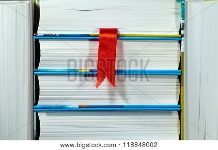 Books With Red Bookmark