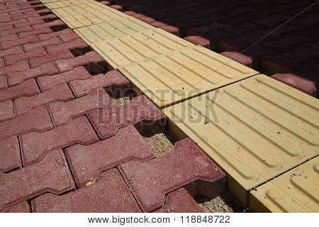 Paving Tiles And Blind Track