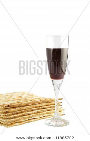 Matza and red wine