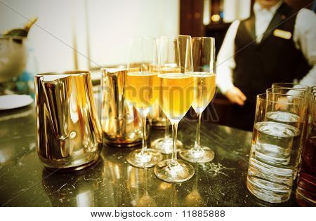 Bar Counter With Champagne