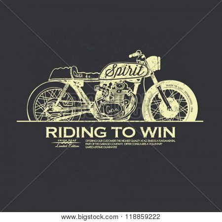 vintage race motorcycle for apparel 2