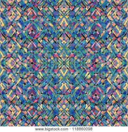 Set Motley Geometrical Elements Shabby On Black Background