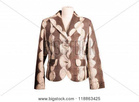 Isolated python leather jackets