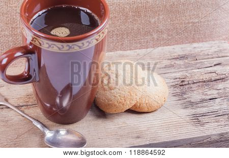 cookies and coffee still life