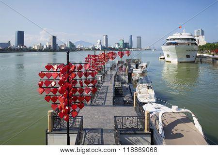 Municipal Pier in Danang. Vietnam