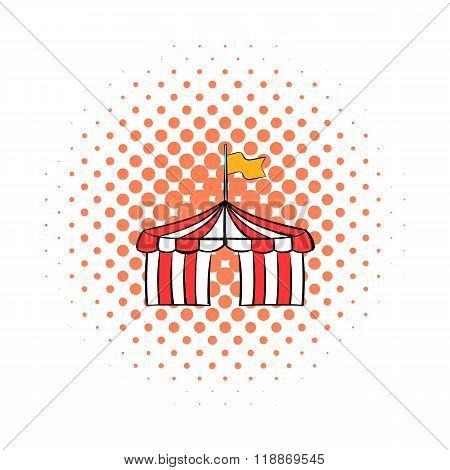 Circus tent comics icon