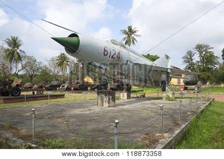 Soviet MIG-21. Municipal Museum of Hue, Vietnam