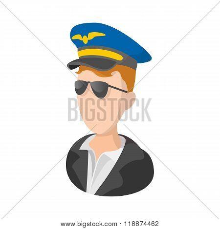 Captain of the aircraft cartoon icon