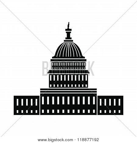 White House in Washington DC icon