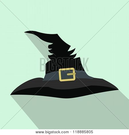 Witch hat flat icon with shadow