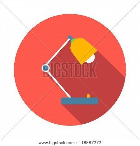 Desk lamp icon, flat style