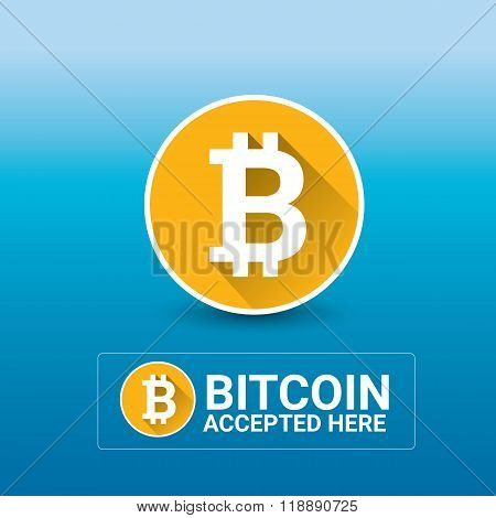 vector Bitcoin symbol. bitcoin icon