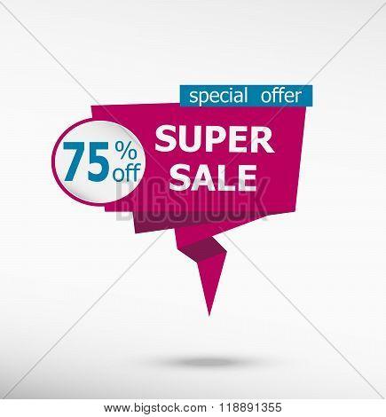 Super Sale Paper Banner
