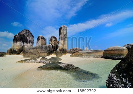 Beach at Batu Layar Island