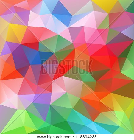 Vector Abstract Irregular Polygon Background With A Triangular Pattern In Spring Colorful Spectrum