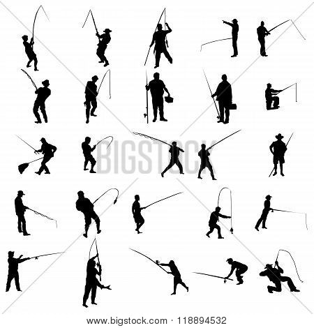 Fisherman silhouette set. Fisherman silhouette icons. Fisherman silhouettes black. Fisherman silhouettes art. Fisherman icons. Fisherman icons art. Fisherman icons web. Fisherman icons new