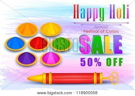 Holi Sale promotion poster