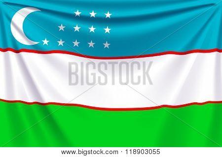 back flag Uzbekistan