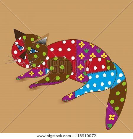 A rag toy cat