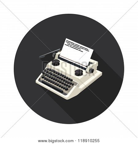 Flat Icon Typewriter
