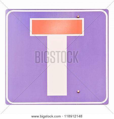 Traffic Sign Vintage