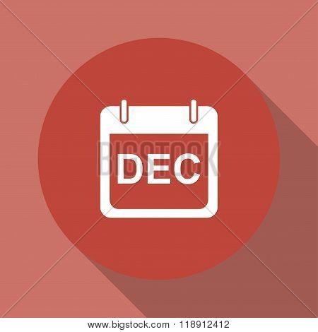 Simple Calendar.  Modern Design Flat Style Icon