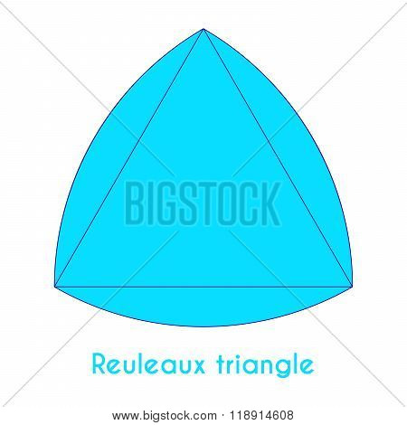 Blue Reuleaux Triangle