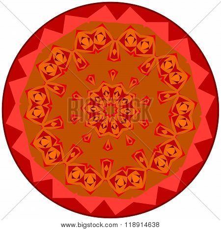 Reddish Small Mandala