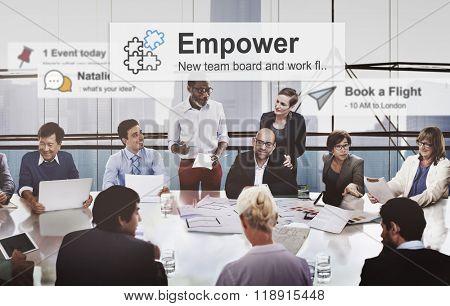 Empower Empowering Empowerment Improvement Concept
