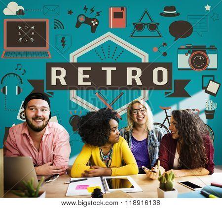 Retro Vintage Classic Old School Lifestyle Retrospect Concept