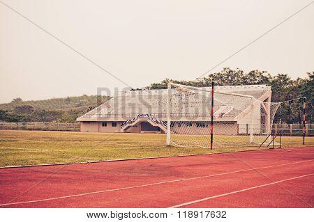 Soccer Goal or Football Goal , Vintage color filter