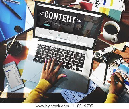 Content Data Blogging Media Publication Concept