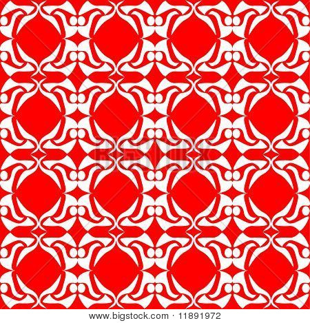 seamless red floral background excellent