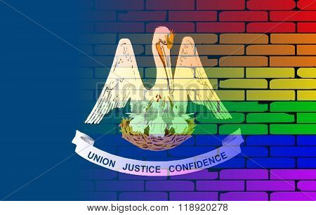 Rainbow Wall Louisiana