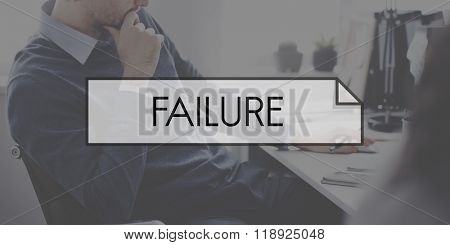 Failure Loss Depression Unsuccessful Concept