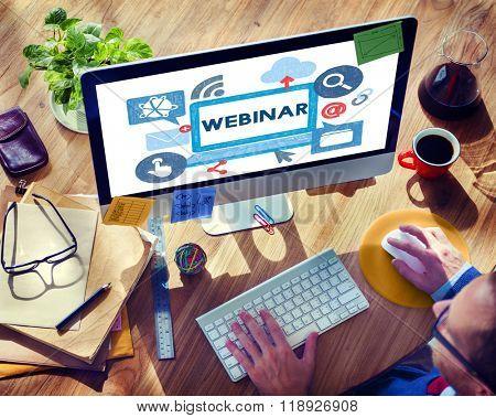 Webinar Web Webcast Technology Collaborative Concept