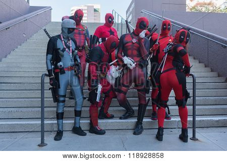 Participans With Deadpool Costumes