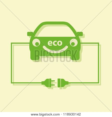 Eco car concept. Vector.