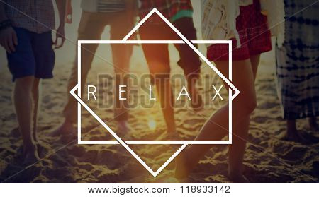 Relax Relaxation Beach Summer Fun Concept
