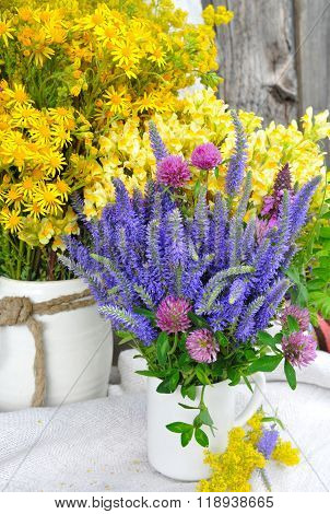 Beautiful Bouquets Of Bright Wildflowers