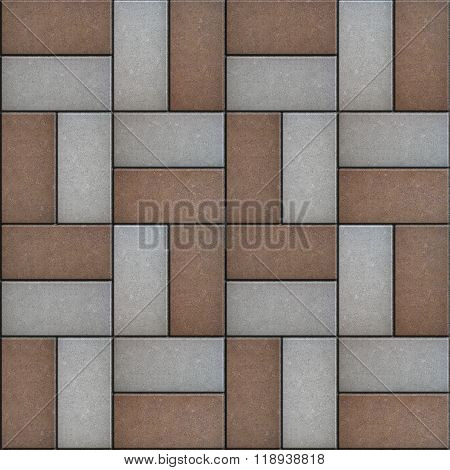 Brown-Gray Rectangle Pavement.
