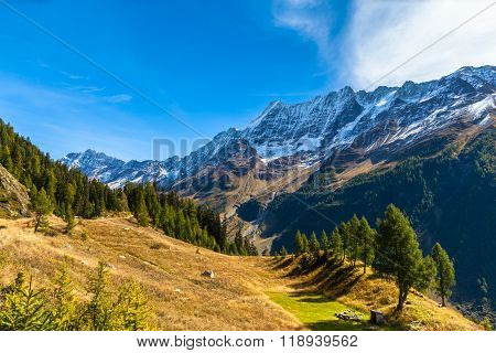 Beautiful View Of  Loetschental Valley