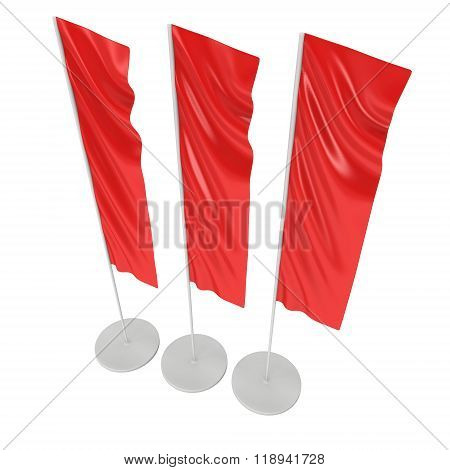 Flag Blank Red Expo Banner Stand.