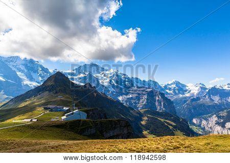 View Of Jungfrau From Mannlichen