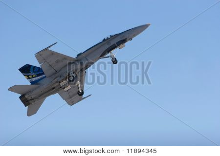 F-18 USA military fighter jet