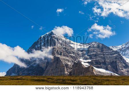 Eiger North Face And Eiger Glacier
