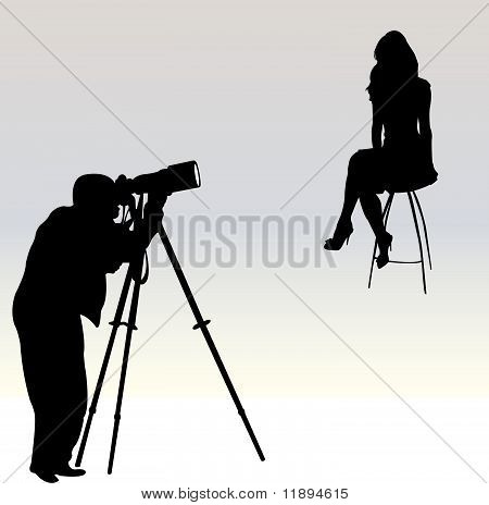 Photographer - vector