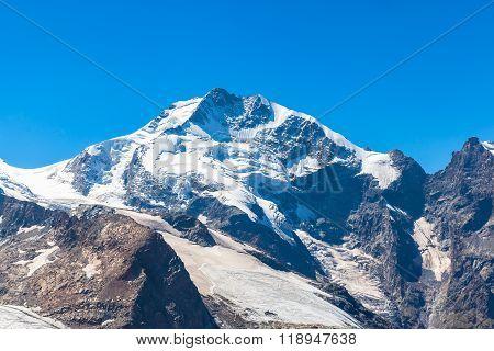 View Of The Piz Bernina Form Diavolezza